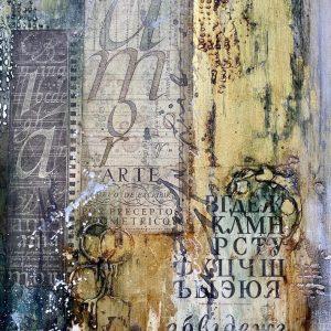 Золото и графика – интерьерная картина микс медиа арт: онлайн курс Натальи Жуковой с поддержкой, ПРЕДВ. ЗАПИСЬ