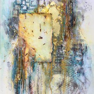 Вечерний город: интерьерное микс медиа арт панно: мастер-класс Натальи Жуковой в студии