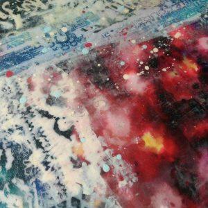 Кружевная дымка, интерьерное панно микс медиа, имитация энкаустики: видеозапись онлайн курса Натальи Жуковой для самостоятельной работы