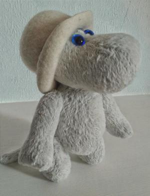 Бегемотик Мумми: экспресс курс по созданию авторской игрушки Тедди.