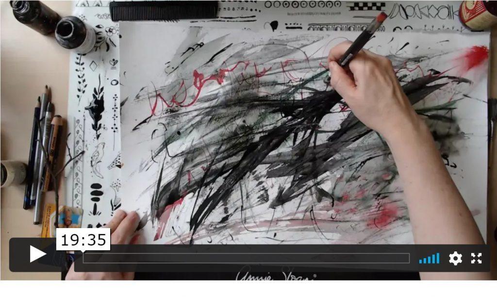 Эксперименты с графическими материалами. Фоны, эфир №1. Видеозапись встречи Клуба Микс Медиа Арт Натальи Жуковой в Zoom.