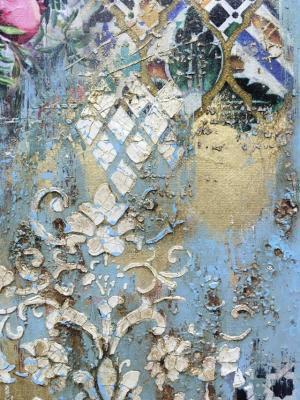 Золотой сад, интерьерное микс медиа панно: ОНЛАЙН курс Натальи Жуковой с поддержкой, начало 17.12.19
