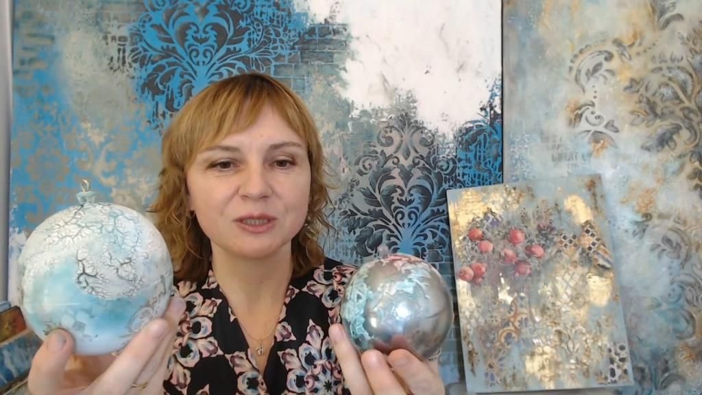Сияющие эффекты в микс медиа арт декоре: вебинар Натальи Жуковой
