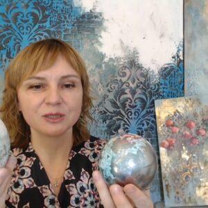 Сияющие эффекты в микс медиа арт декоре, вебинар Натальи Жуковой: видеозапись