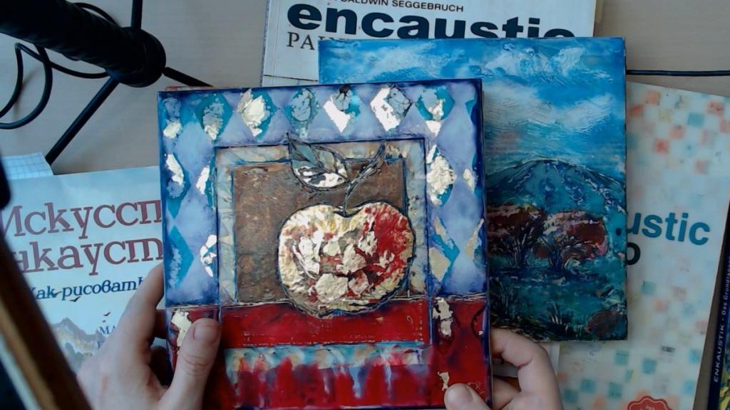 Обзор книг по энкаустике микс медиа от Натальи Жуковой