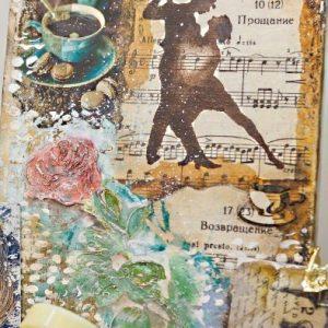 Техники трансфера в микс медиа арт (mixed media art) и энкаустике: видео курс Натальи Жуковой